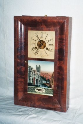 G. Boardman Clock In Cherry