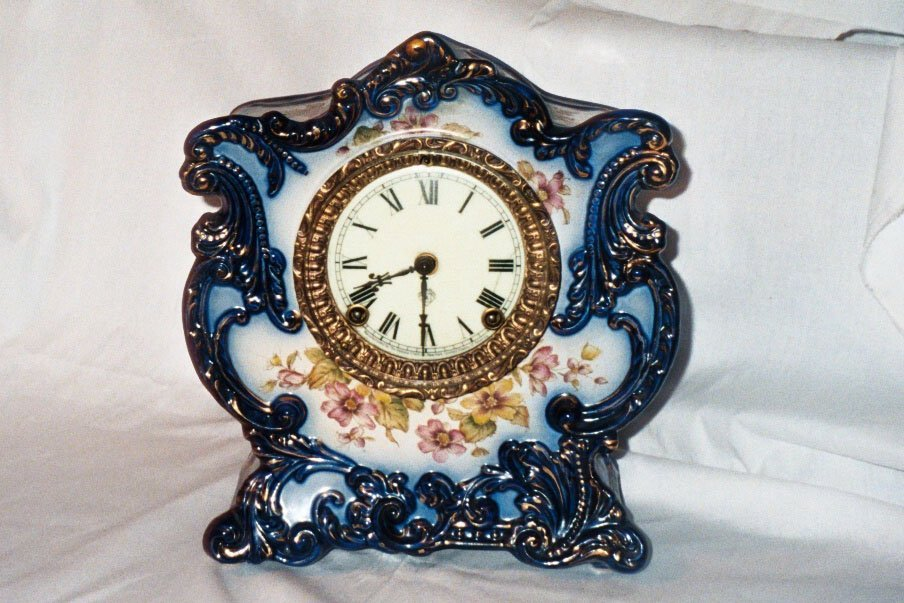 18: 8 Day Blue Clock by Ansonia