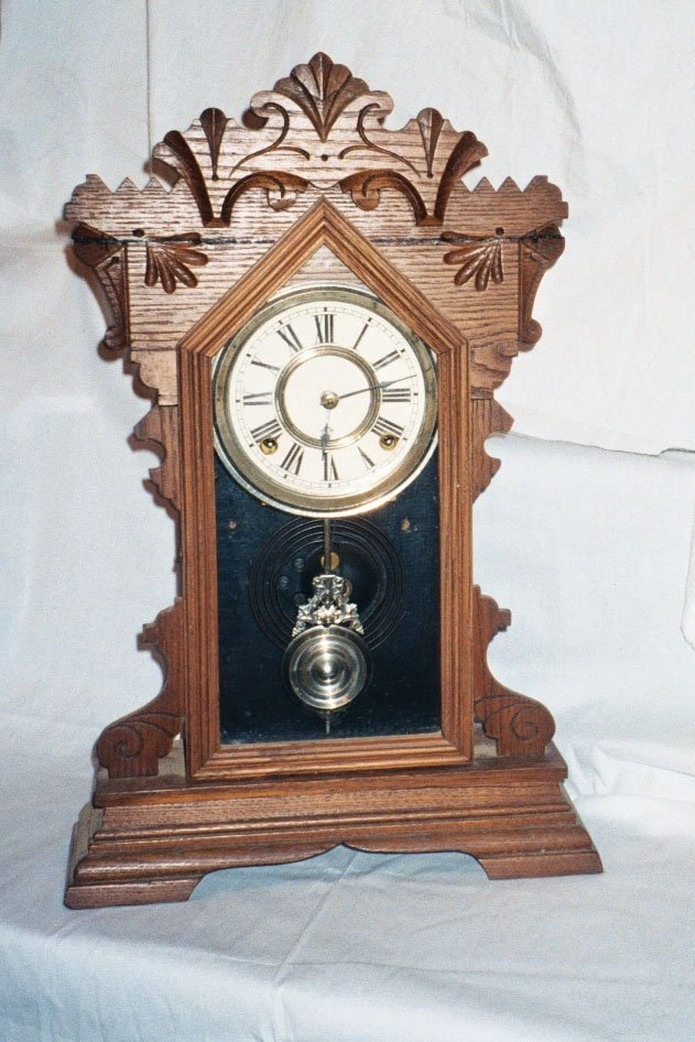 19: Oak Kitchen Clock by Ansonia