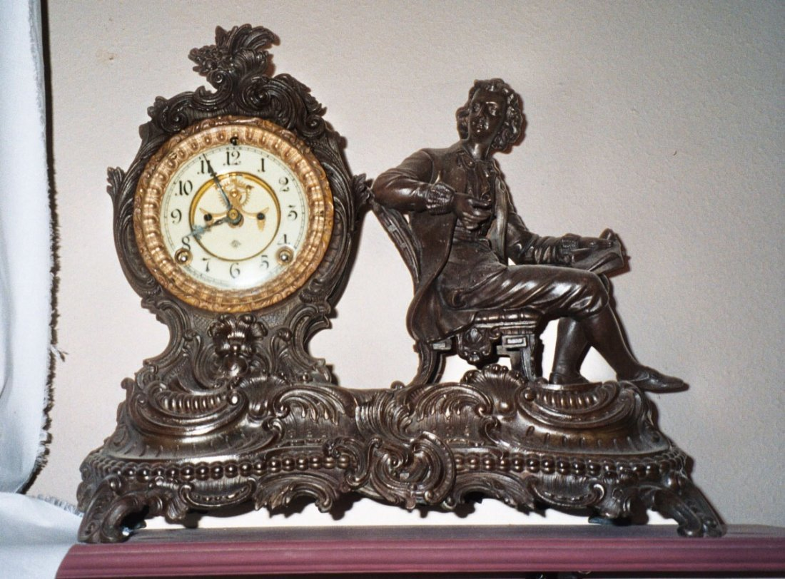 "99: Ansonia Statue Clock  ""Man"""
