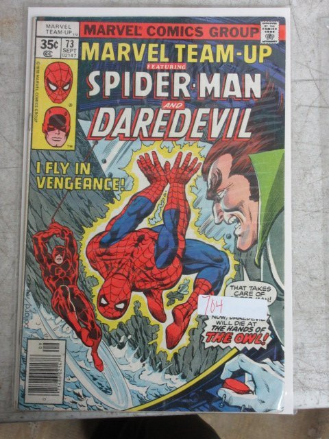 marvel team up Spider-man and daredevil # 73 , 1978