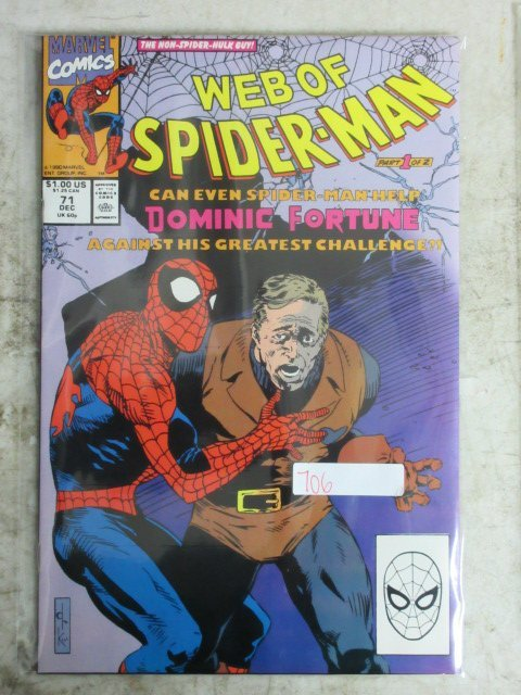 web of Spider-man # 71 , 1990 marvel