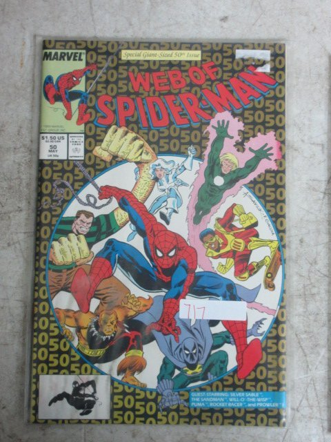 web of Spider-man # 50 , 1989 marvel
