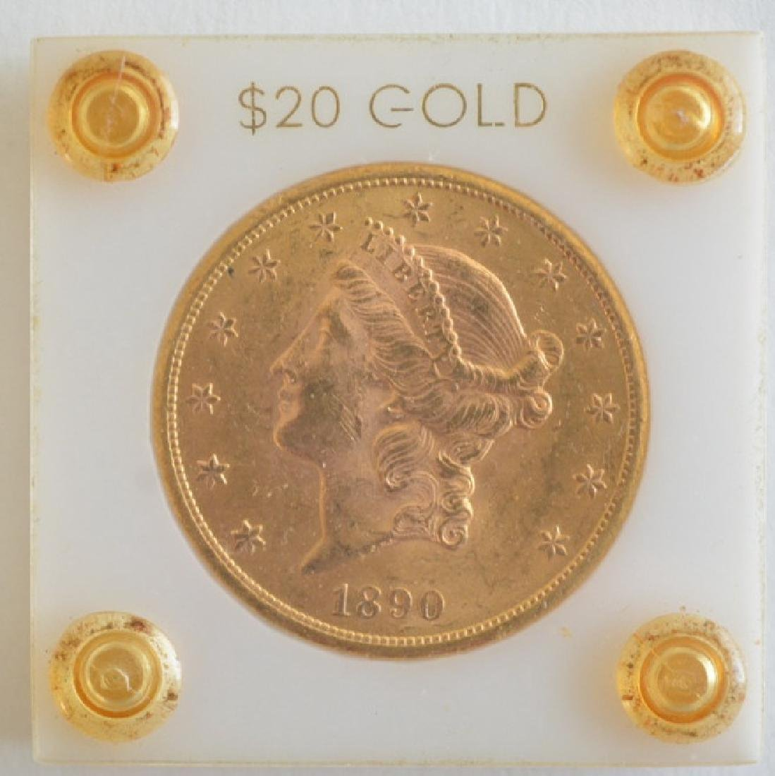 1890-S $20 Liberty Double Eagle Gold Coin