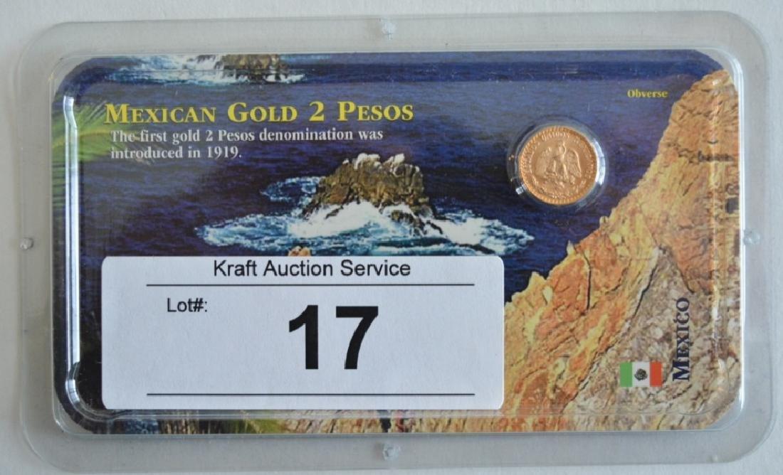 1945 Mexican Gold 2 Pesos Coin