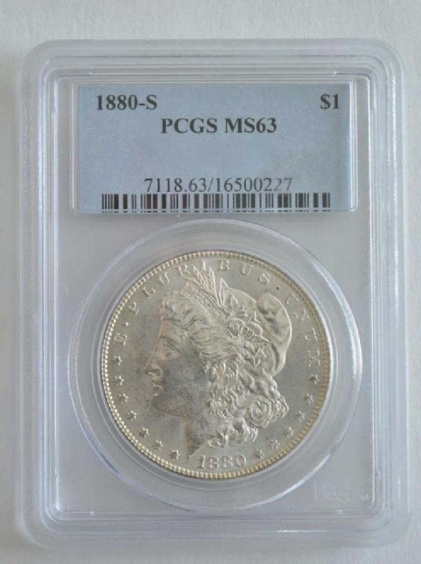 1880-S PCGS MS 63 Morgan Dollar