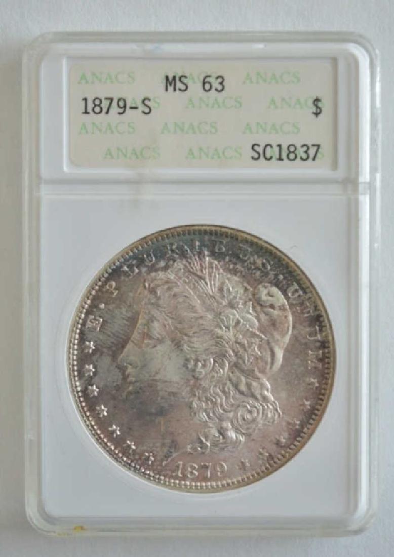 1879-S ANACS MS 63 Morgan Dollar