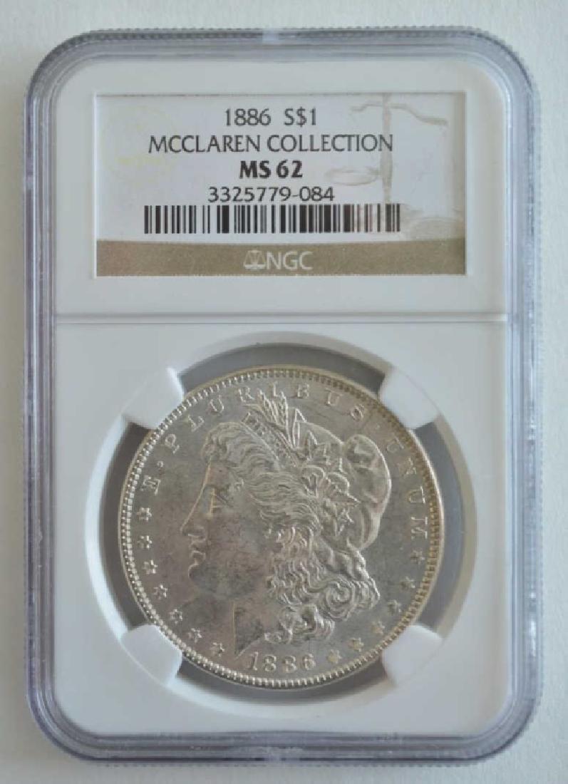 1886 NGC MS 62 Morgan Dollar