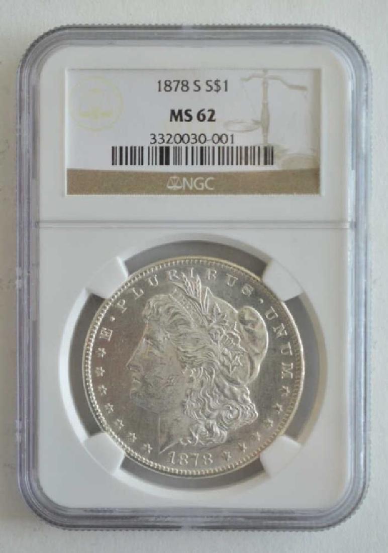 1878-S NGC 62 Morgan Dollar