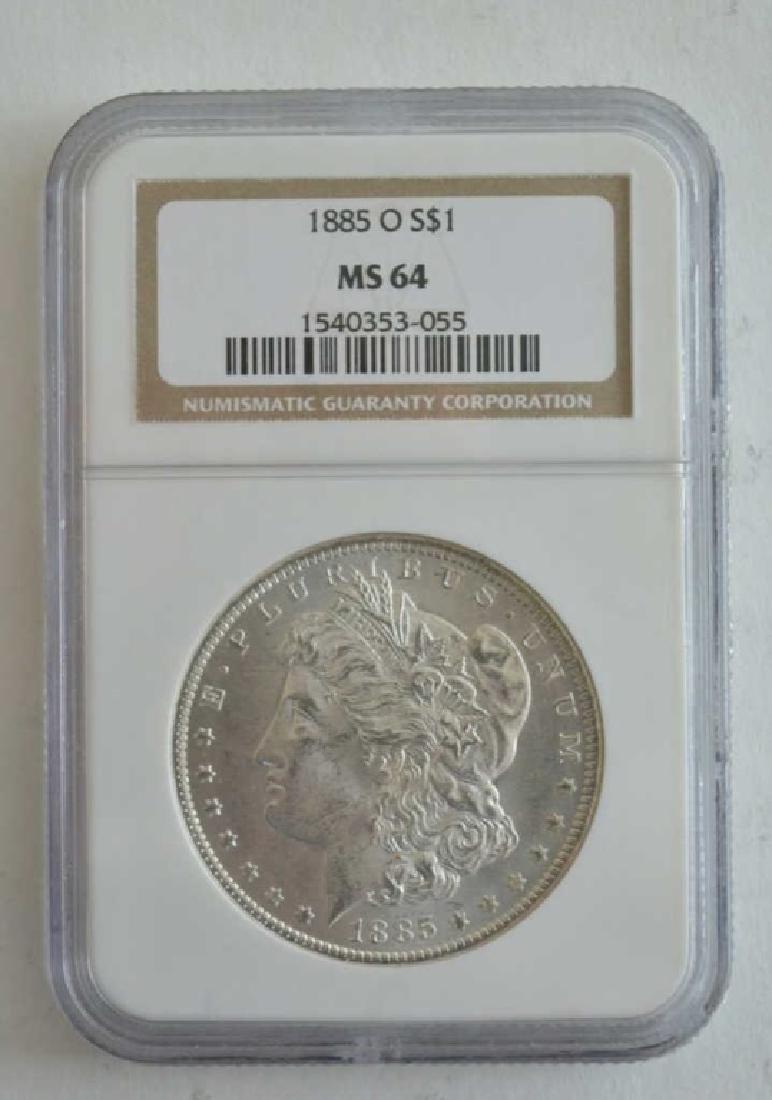 1885-O NGC MS 64 Morgan Dollar