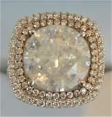 18K White Gold 10.21ct Center Stone Diamond Ring