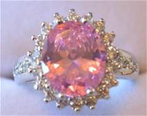 4.82ct Pink Sapphire Sterling Silver Ring