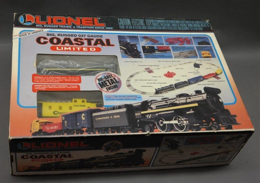 Lionel Coastal Limited Train Set in Box-027 gauge