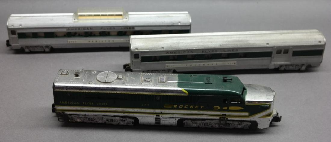 American Flyer Lines Rocket with 960 &962 Cars
