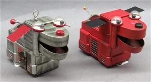 1950s Yashiya Wind Up Space Dog- Red