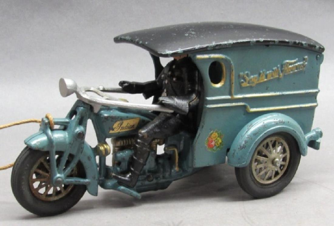 '32 Hubley Say it with Flowers Delivery Motorcycle