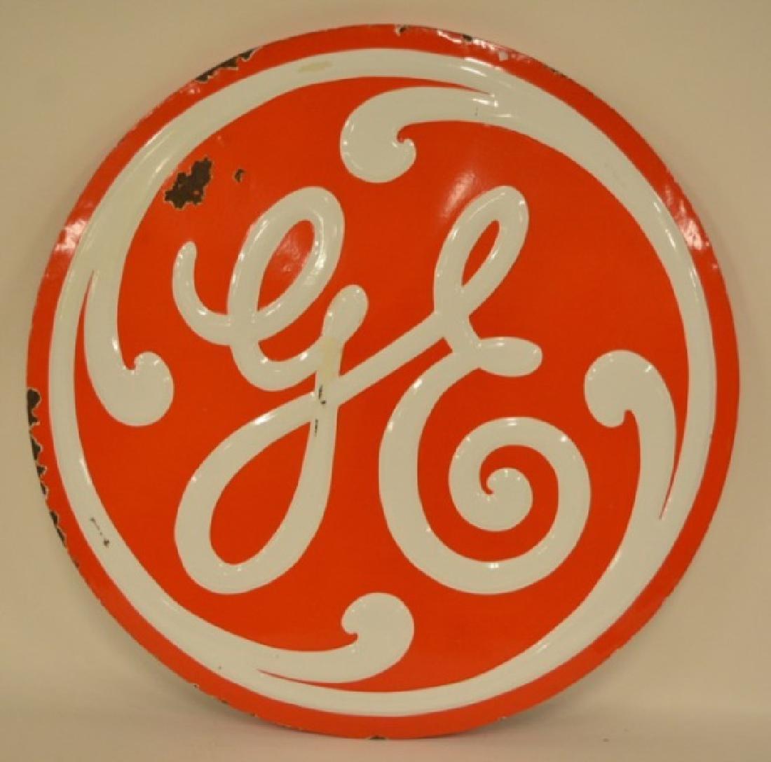 SSP General Electric Embossed Advertising Sign