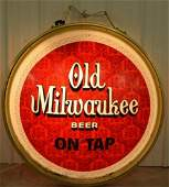 Double Sided Lighted Old Milwaukee Beer Sign