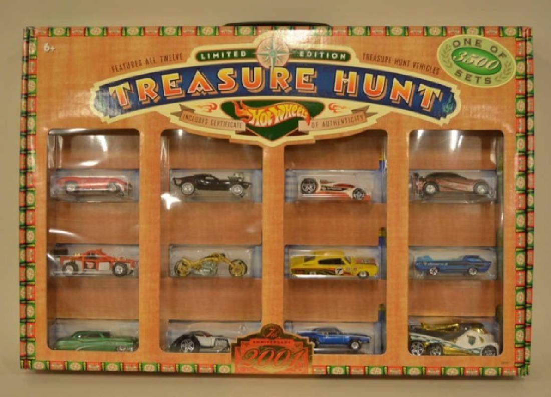 2001 Hot Wheels Collectors Club Treasure Hunt Set