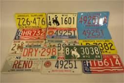 Lot Of 26 Vintage License Plates