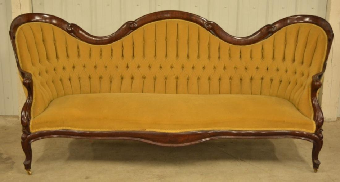 Victorian Belter Rosewood Scroll Pattern Sofa