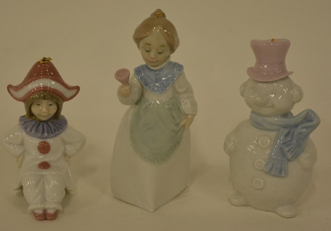 Lot Of 3 Lladro Figural Christmas Ornaments MIB