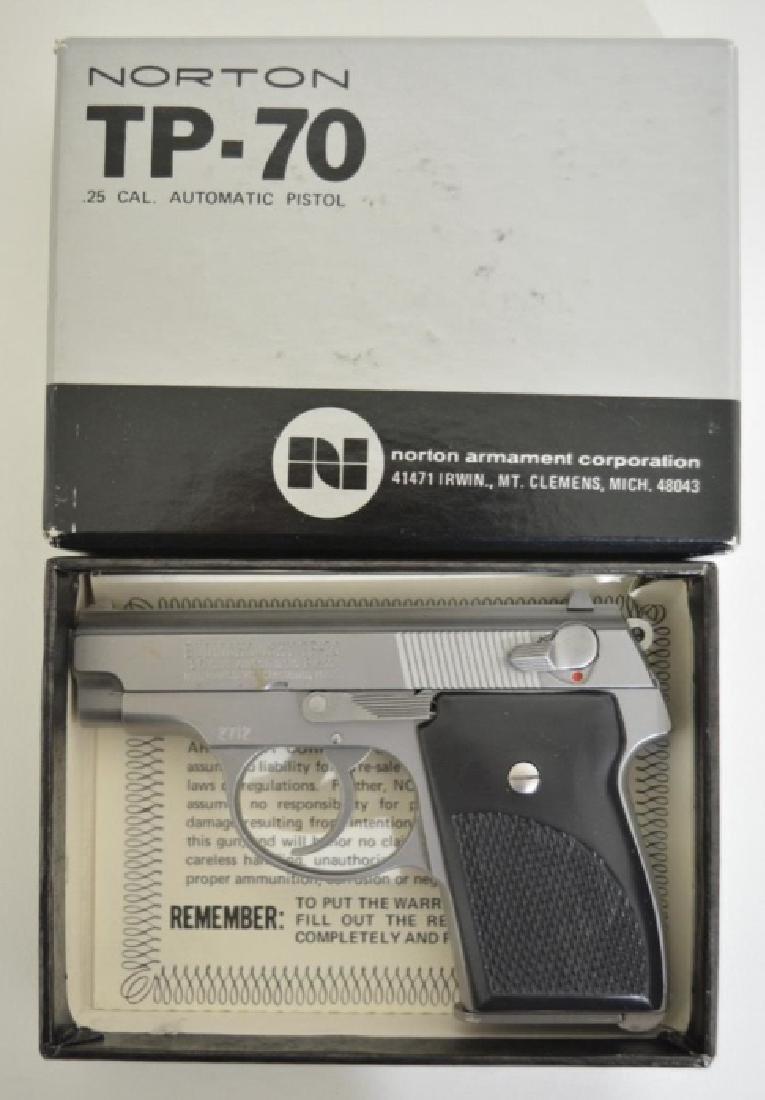 Norton Model TP-70 .25 Cal. Semi-Auto Pistol MIB