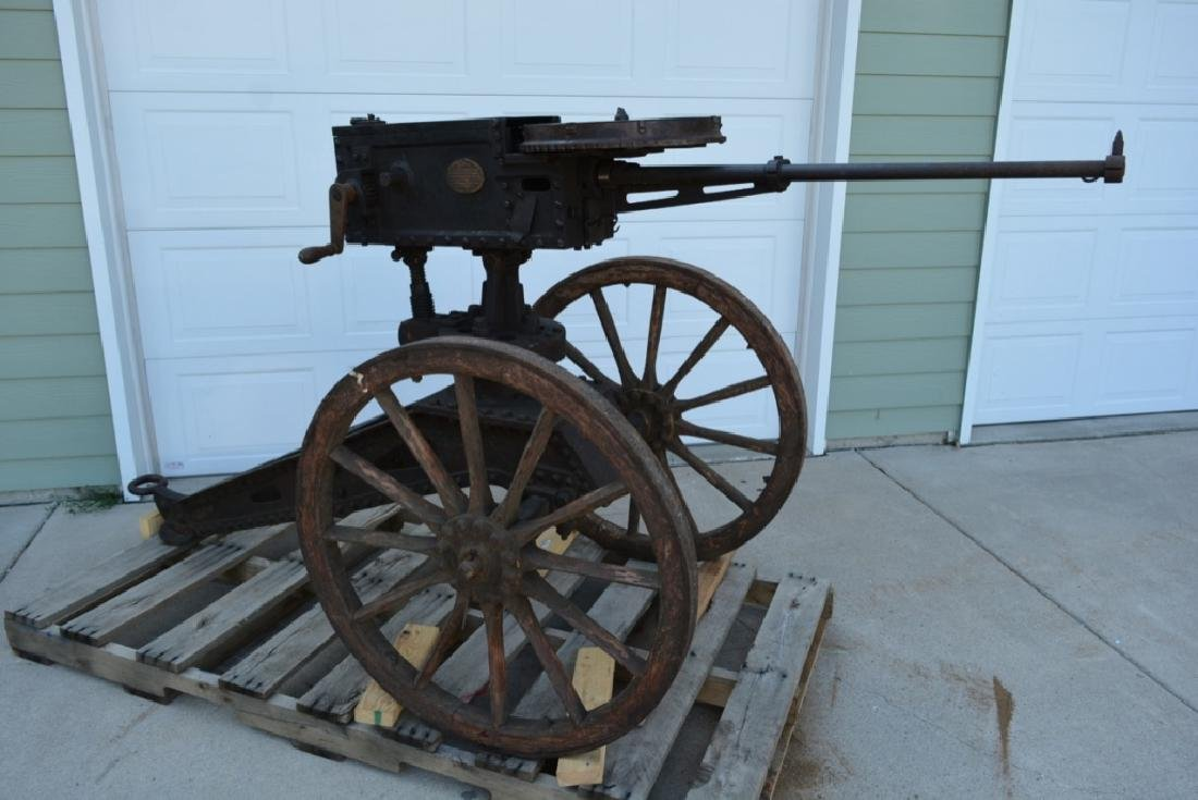 SCARCE NAPALESE BIRA HAND CRANK 577/450 FIELD GUN - 20