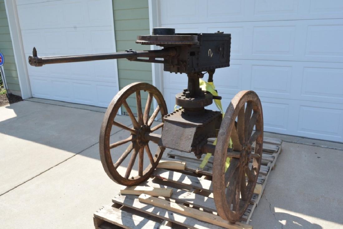 SCARCE NAPALESE BIRA HAND CRANK 577/450 FIELD GUN - 3