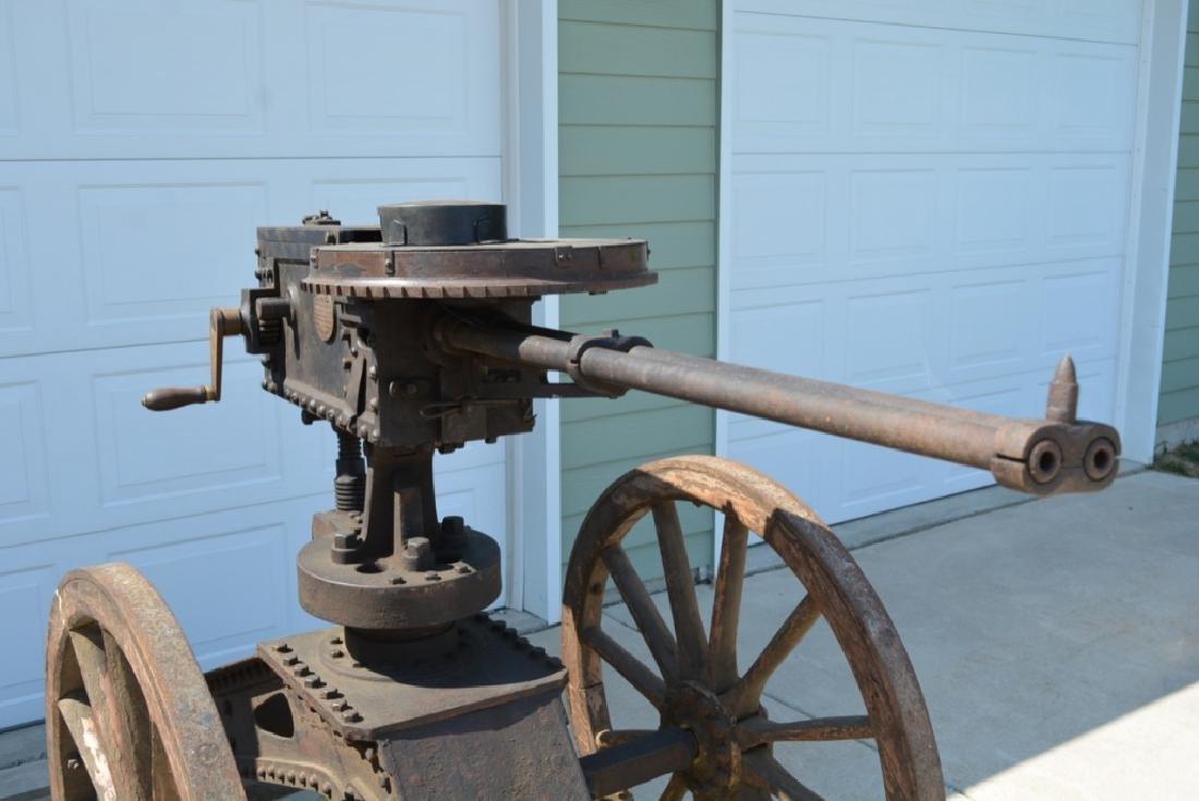 SCARCE NAPALESE BIRA HAND CRANK 577/450 FIELD GUN - 8