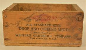 Vintage Western Lead Air Rifle Shot Ammo Crate