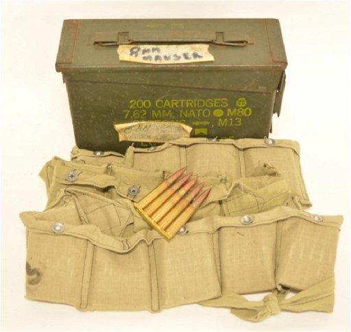Lot Of 210 1949 Turkish 8MM Mauser Cartridges