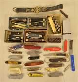 Large Lot Of Vintage Pocket Knives  More
