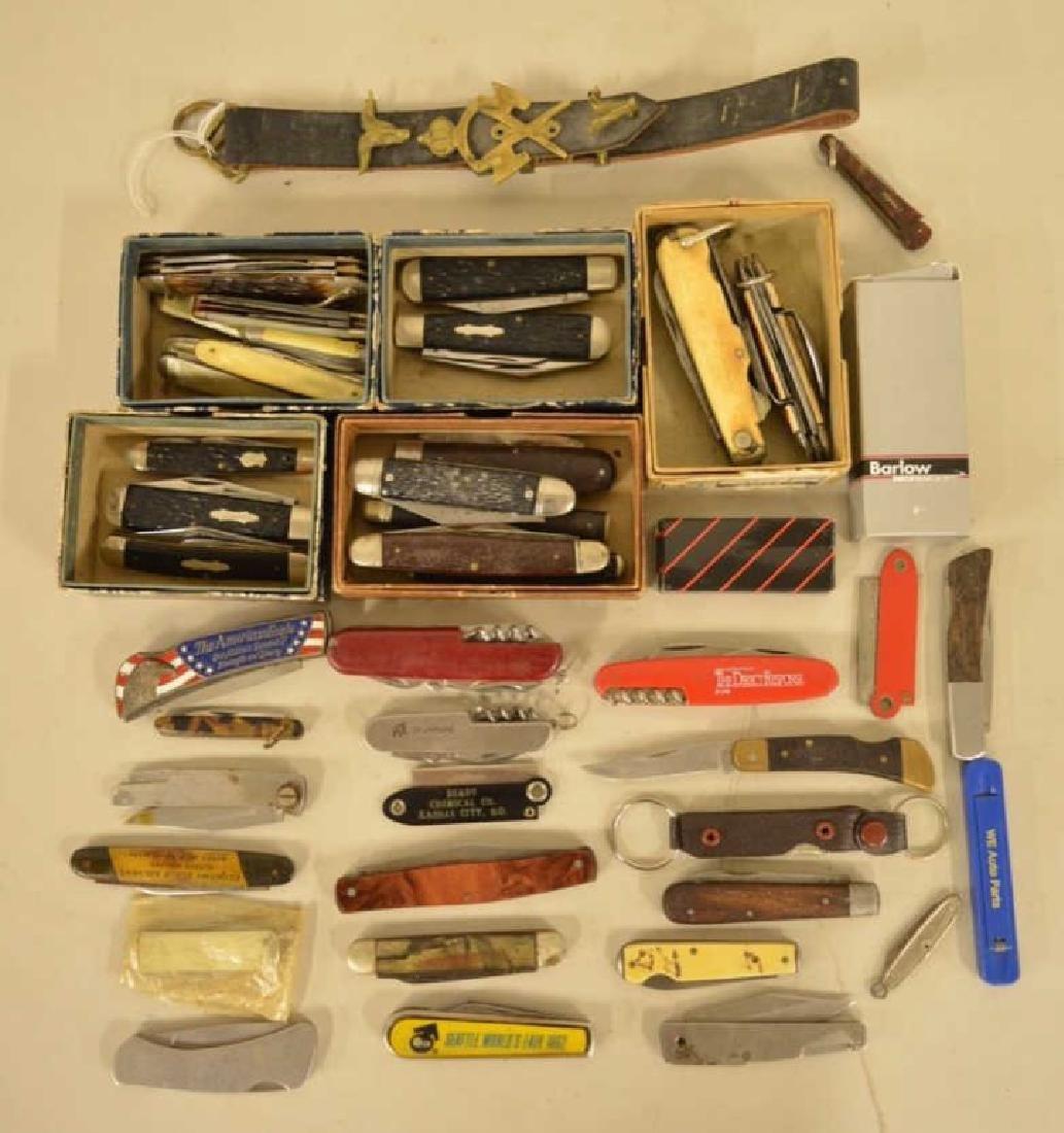 Large Lot Of Vintage Pocket Knives & More