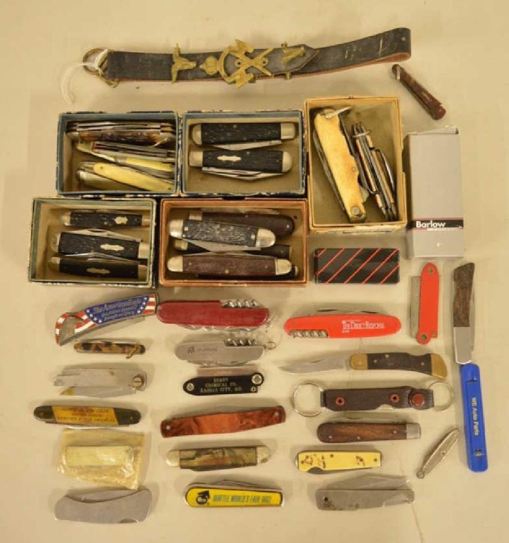 Large Lot Of Vintage Pocket Knives & More