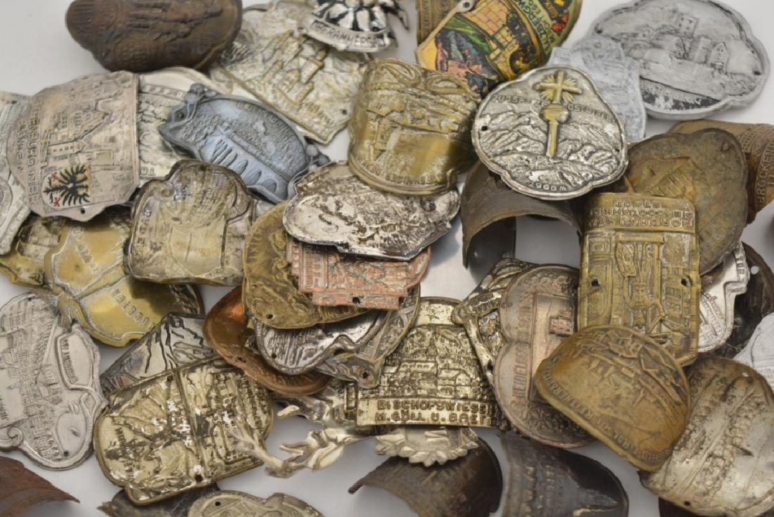 Vintage Lot Of 61 German Walking Stick Badges - 2