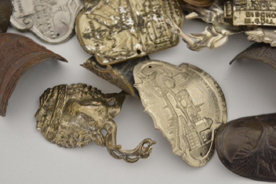 Vintage Lot Of 61 German Walking Stick Badges - 5