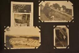 Vintage WWI Era US Military Photo Album Scrapbook