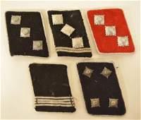WWII German Uniform Collar Tab Lot Of 5