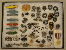 WWII Era US Military Pin And Badge Lot