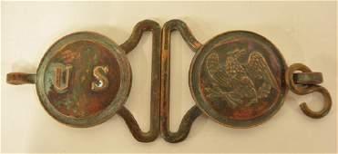 Civil War Era US Military Complete Belt Buckle