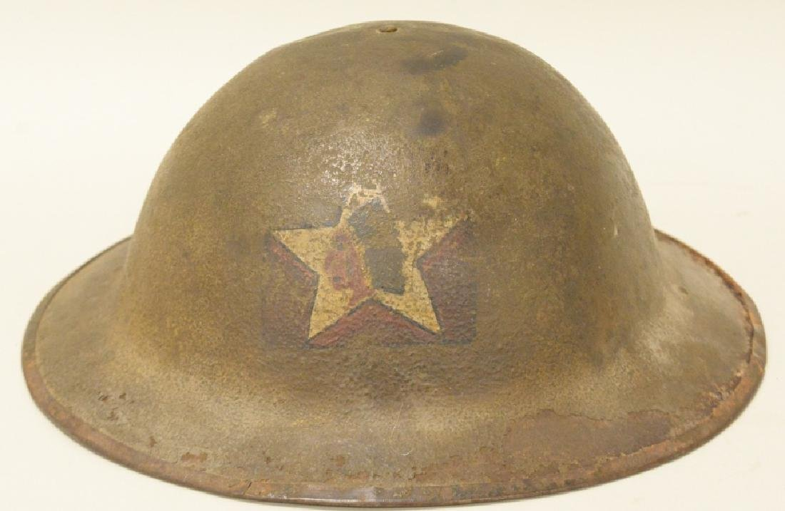 WWI US Army 2nd Division Doughboy Helmet