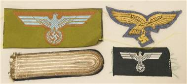 Lot Of WWII German Insignias And More