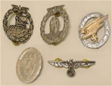 Lot Of WWII German Repo Badges & More