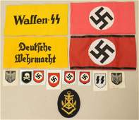 Lot Of WWII German Repo Arm Bands 7 More