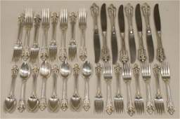 """32 Pc. Wallace """"Grand Baroque"""" Sterling Set"""