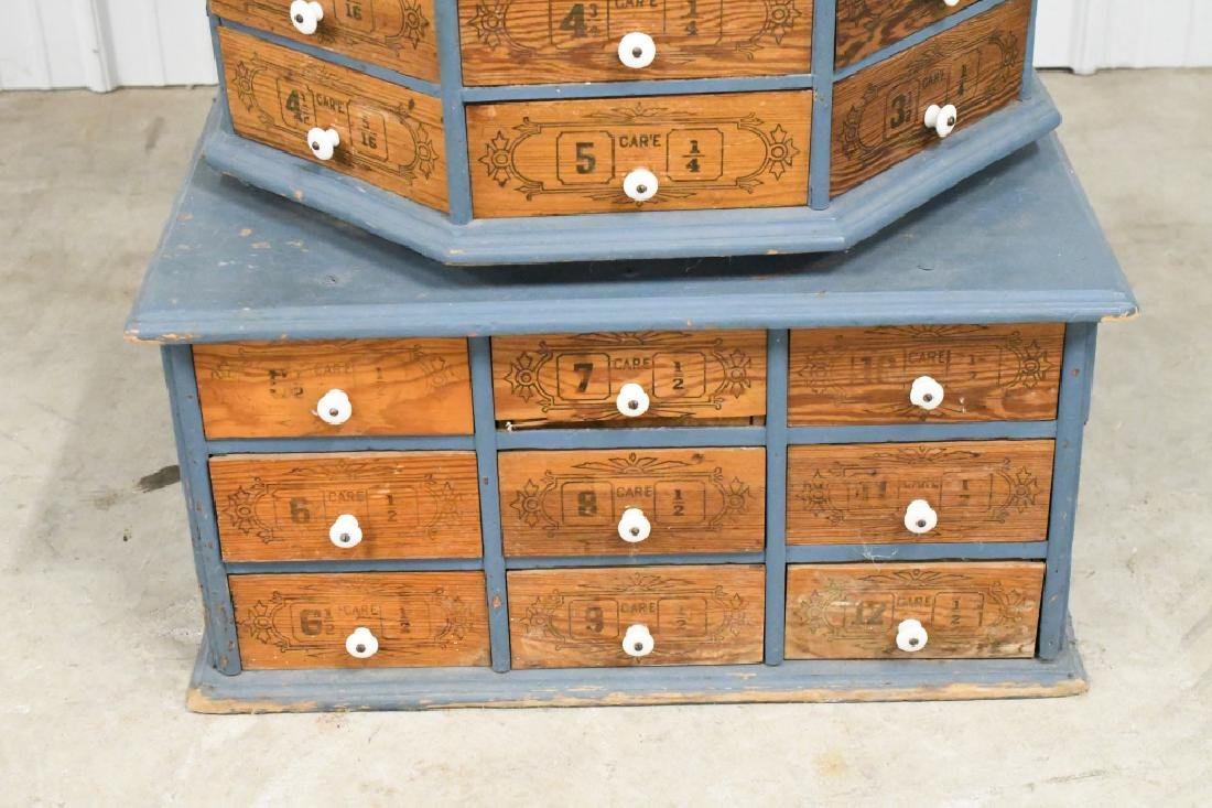 Early General Store Oscillating Hardware Cabinet - 4