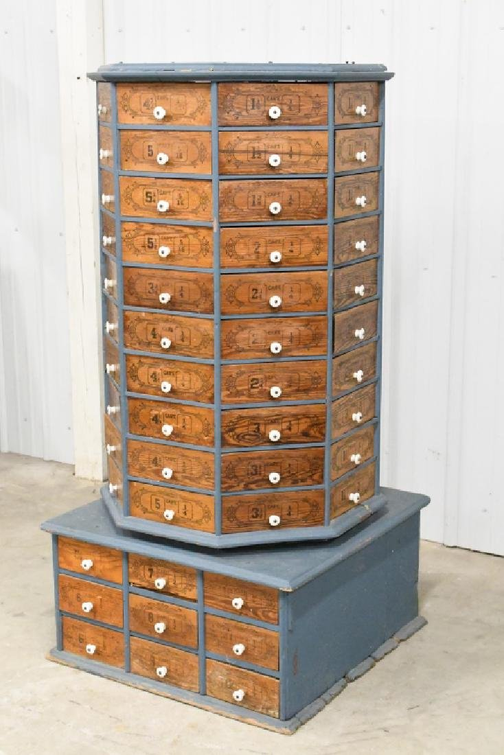 Early General Store Oscillating Hardware Cabinet - 5