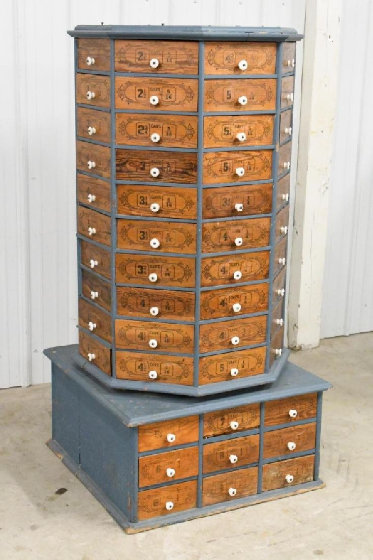 Early General Store Oscillating Hardware Cabinet - 6