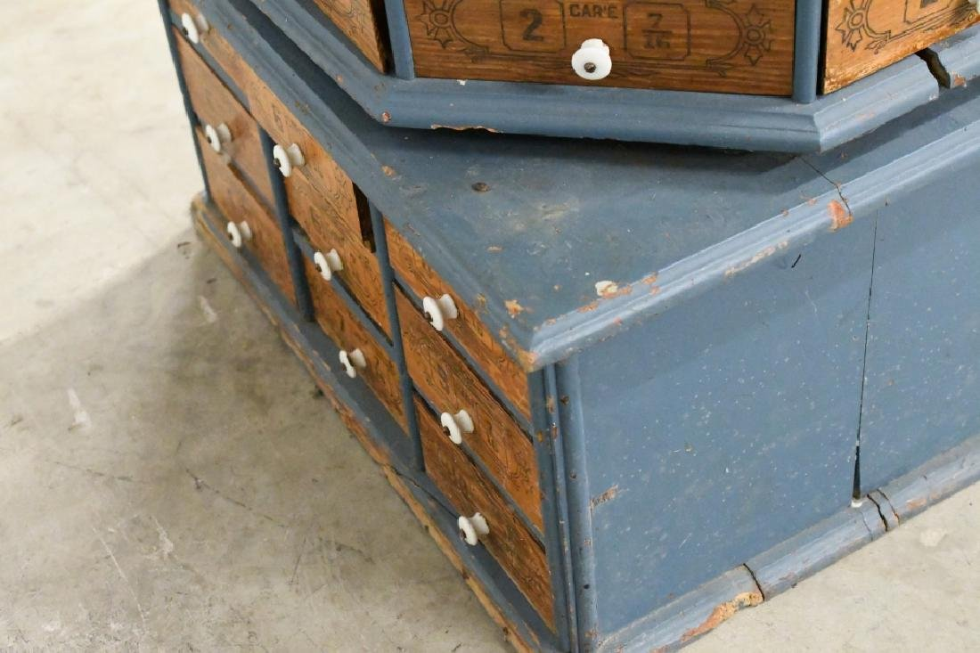 Early General Store Oscillating Hardware Cabinet - 7